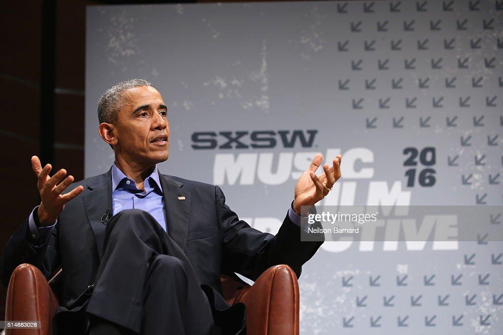 President Barack Obama - 2016 SXSW Music, Film + Interactive Festival : News Photo