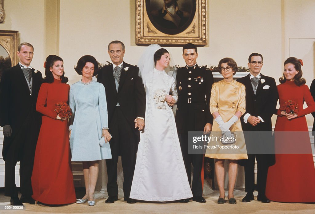 Wedding Of President Johnson's Daughter : News Photo