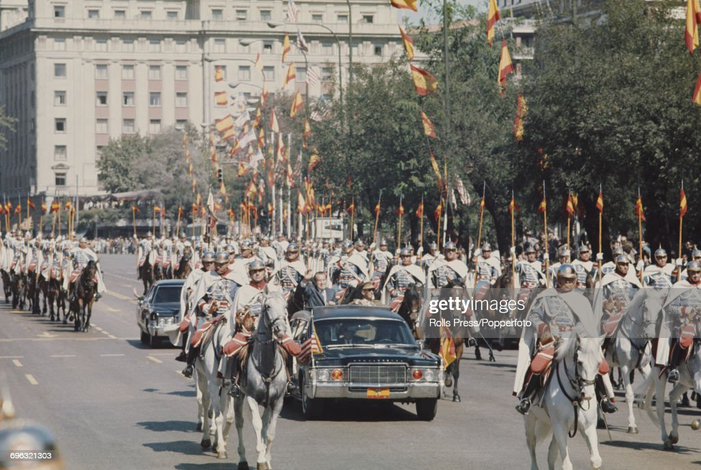 President Nixon In Spain : News Photo