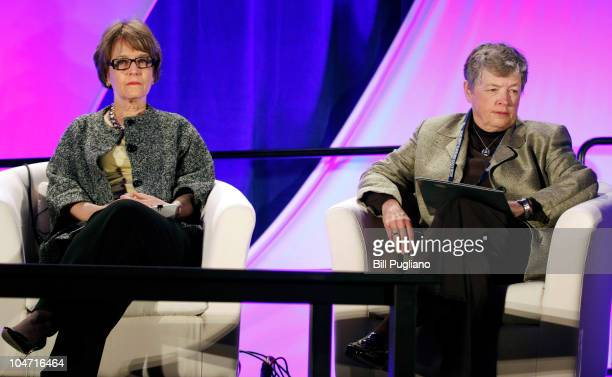 President of the University of Michigan Mary Sue Coleman and President of Michigan State University Lou Anna Simon wait to speak at the start of the...
