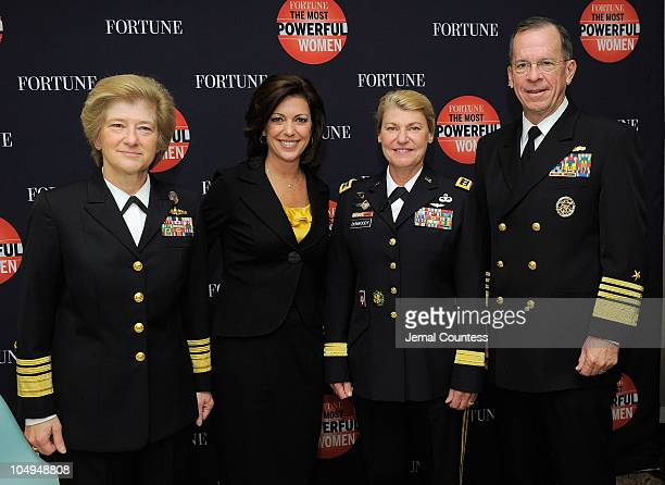 President of the US Navy National Defense University Vice Admiral Ann Rondeau CNN correspondent Kyra Phillips Commanding General of US Army Material...