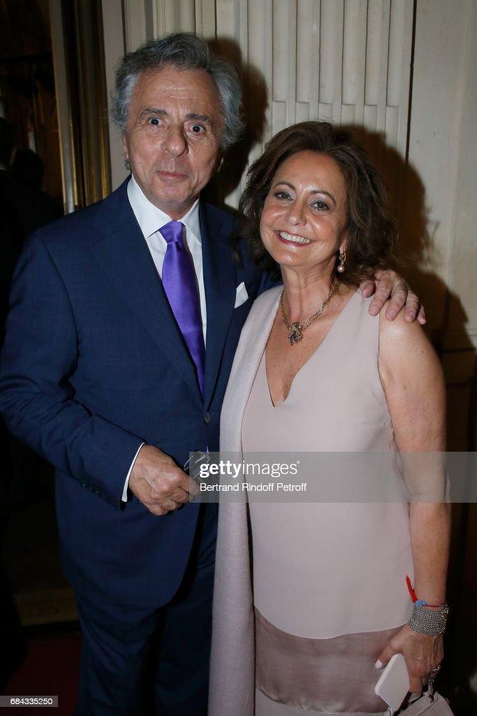 President of the 'Vaincre le Cancer' Association, Michel Oks and his wife Julie Oks attend the 'Vaincre Le Cancer' Gala - 30th Anniverary at Cercle de l'Union Interalliee on May 17, 2017 in Paris, France.