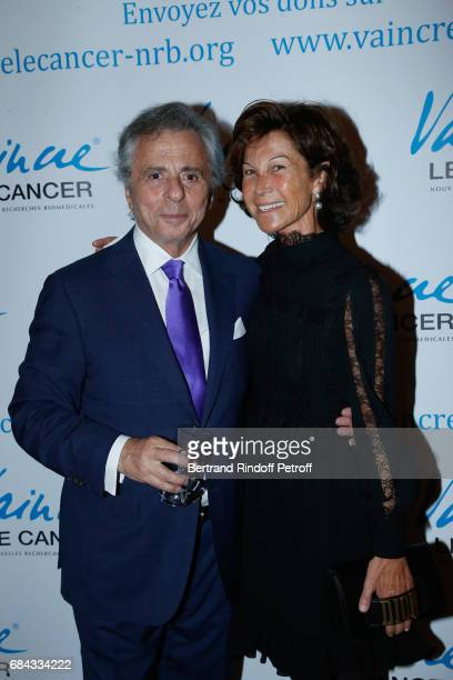 President of the 'Vaincre le Cancer' Association Michel Oks and Sylvie Rousseau attend the 'Vaincre Le Cancer' Gala 30th Anniverary at Cercle de...