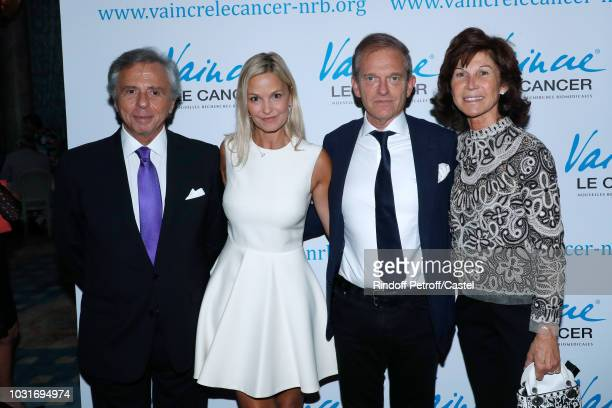 President of the 'Vaincre le Cancer' Association Michel Oks Doctor Frederic Saldmann with his wife Marie Saldmann and Sylvie Rousseau attend the...