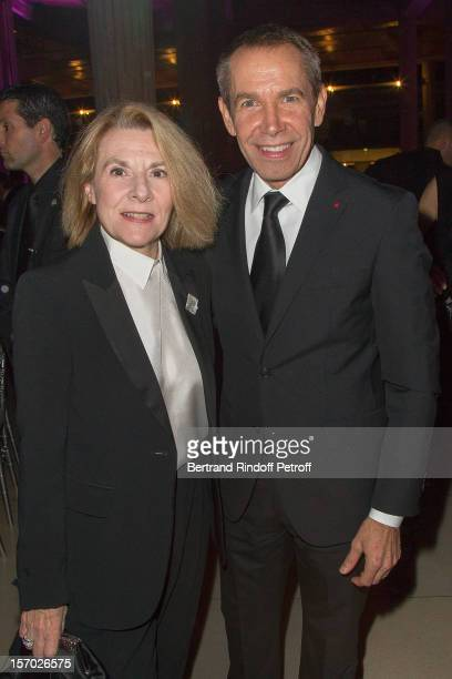 President of the Versailles Castle Catherine Pegard and American artist Jeff Koons attend the annual gala evening of the FrenchAmerican Foundation at...