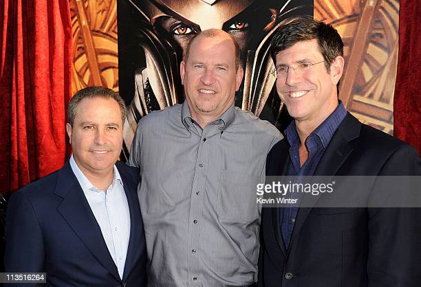 President of The Walt Disney Studios Alan Bergman Paramount Pictures Vice Chairman Rob Moore and Chairman of The Walt Disney Studios Rich Ross arrive...