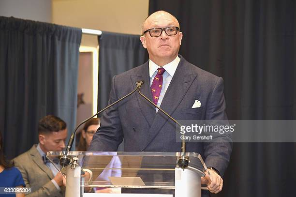President of the Westminster Kennel Club Sean W McCarthy speaks during the 2017 Westminster Kennel Club Meet The Breeds at Madison Square Garden on...
