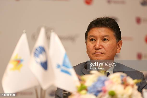 President of the World Chess Federation FIDE Kirsan Ilyumzhinov during the press conference in Baku The opening ceremony of World Chess Cup 2015 will...