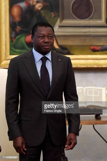 President of Togo Faure Essozimna Gnassingbe attends an audience with Pope Francis at the Apostolic Palace on April 29 2019 in Vatican City Vatican