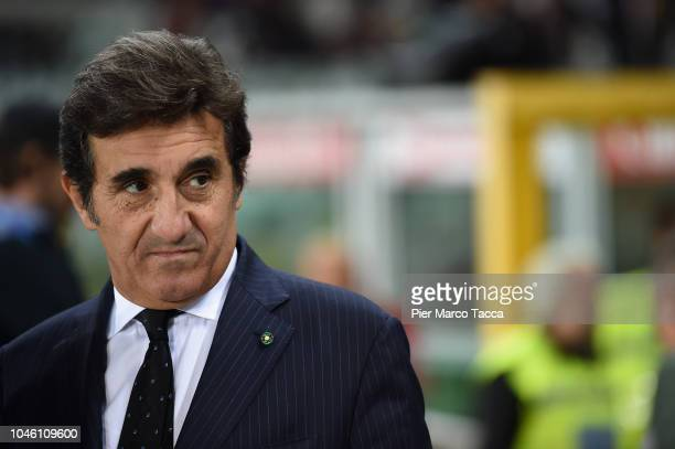 President of Torino FC Urbano Cairo looks during the Serie A match between Torino FC and Frosinone Calcio at Stadio Olimpico di Torino on October 5...