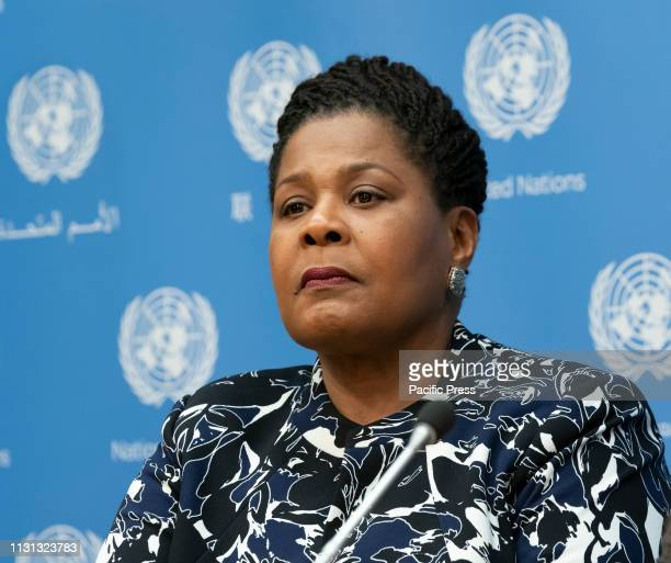 President of Trinidad and Tobago PaulaMae Weekes attends Press Briefing on the HighLevel Event on Women in Power at United Nations Headquarters