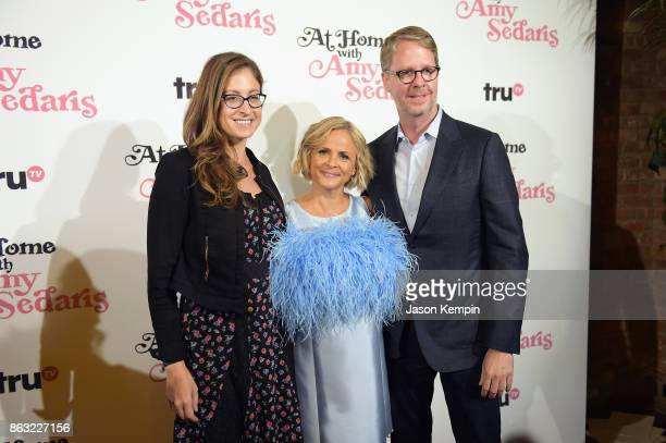 President of truTV Chris Linn Amy Sedaris and Executive Vice President Head of Original Programming at truTV Marissa Ronca attends the premiere...