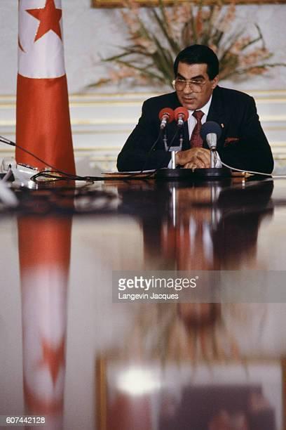 President of Tunisia Zine El Abidine Ben Ali