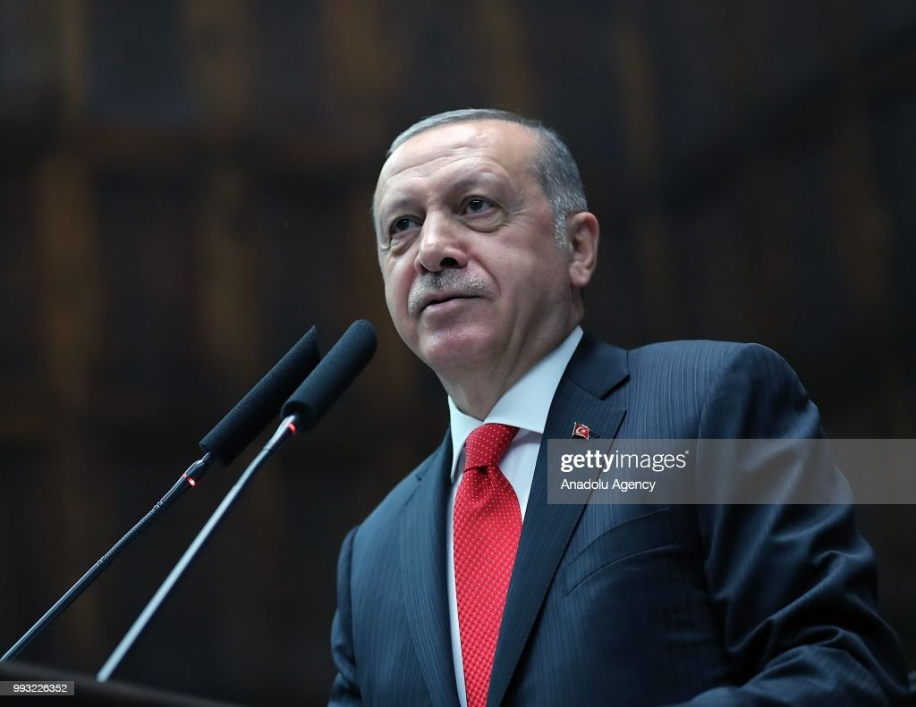 AK Party's Group Meeting in Ankara : News Photo