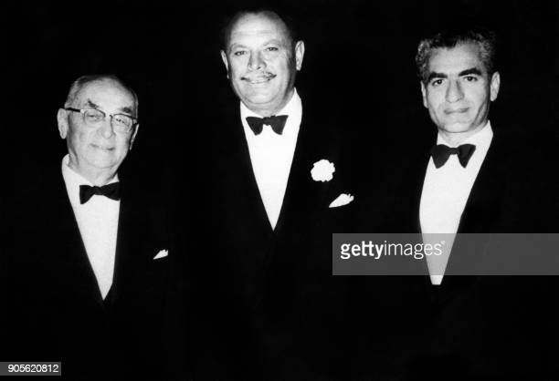 President of Turkey Celal Bayar President of Pakistan Muhammed Ayub Khan and Shah of Iran Mohammad Reza Pahlavi meet on February 1960 in Karachi...