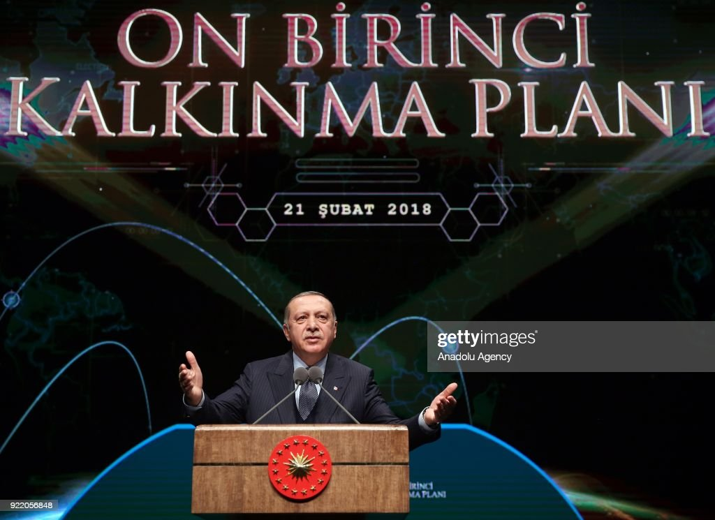 President of Turkey Recep Tayyip Erdogan : News Photo