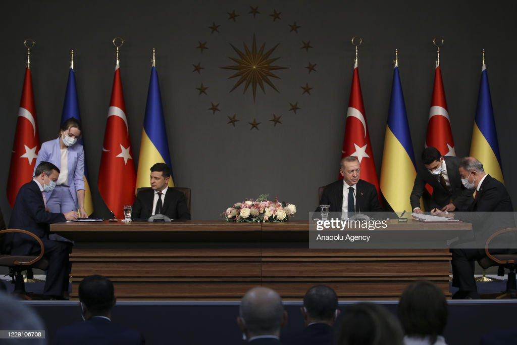 Recep Tayyip Erdogan - Volodymyr Zelensky meeting in Istanbul : News Photo