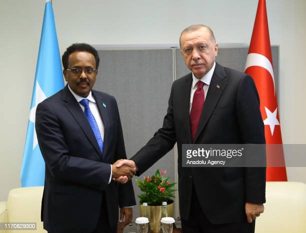 President of Turkey, Recep Tayyip Erdogan and Somali President Mohamed Abdullahi Mohamed Farmajo meet within the 74th session of UN General Assembly...