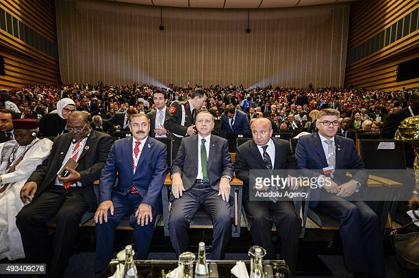 President of Turkey Recep Tayyip Erdogan attends the 12th session of the Conference of the Parties of UN Convention to Combat Desertification in...