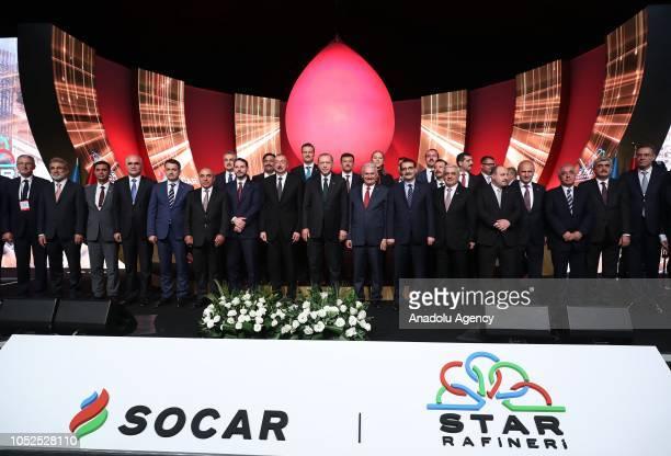 President of Turkey Recep Tayyip Erdogan Azerbaijani President Ilham Aliyev Turkish Grand National Assembly Speaker Binali Yildirim Turkish Treasury...