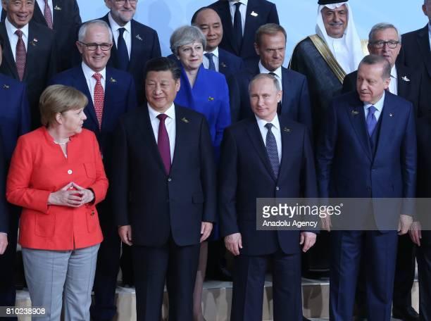 President of Turkey Recep Tayyip Erdogan Chancellor of Germany Angela Merkel President of Russia Vladimir Putin President of China Xi Jinping and...