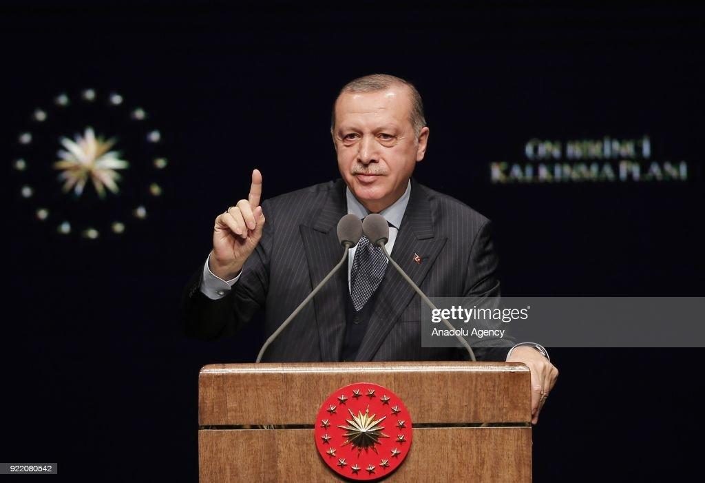 President of Turkey Recep Tayyip Erdogan... : News Photo