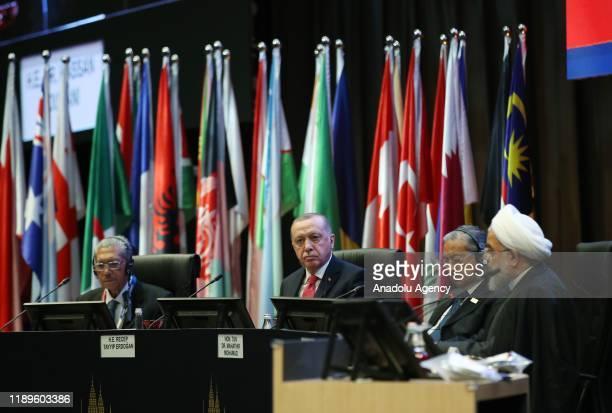 President of Turkey Recep Tayyip Erdogan, Malaysian King Sultan Abdullah Ri'ayatuddin Al-Mustafa Billah Shah, Iranian President Hassan Rouhani and...