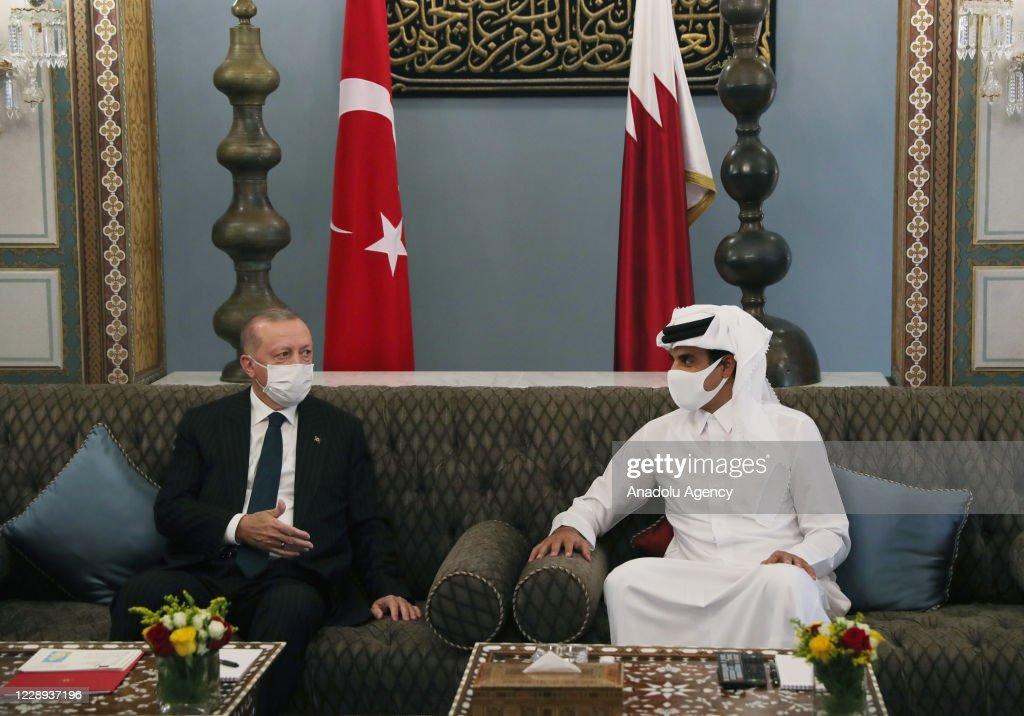 President of Turkey Erdogan in Qatar : News Photo
