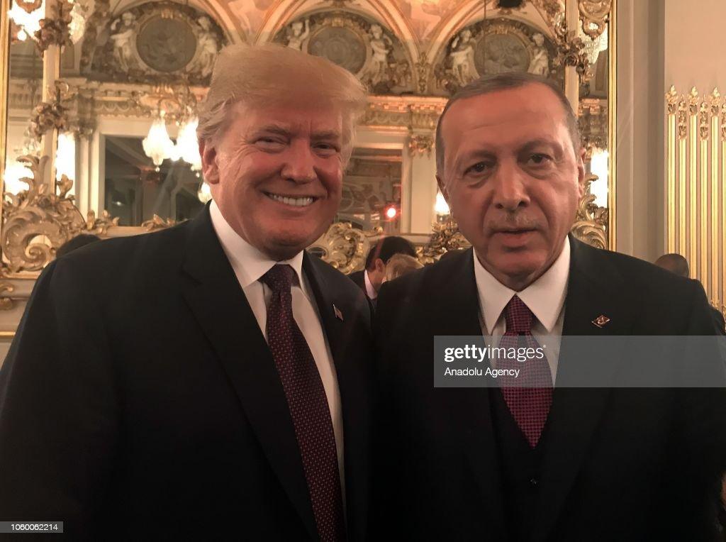 President of Turkey Recep Tayyip Erdogan in Paris : News Photo