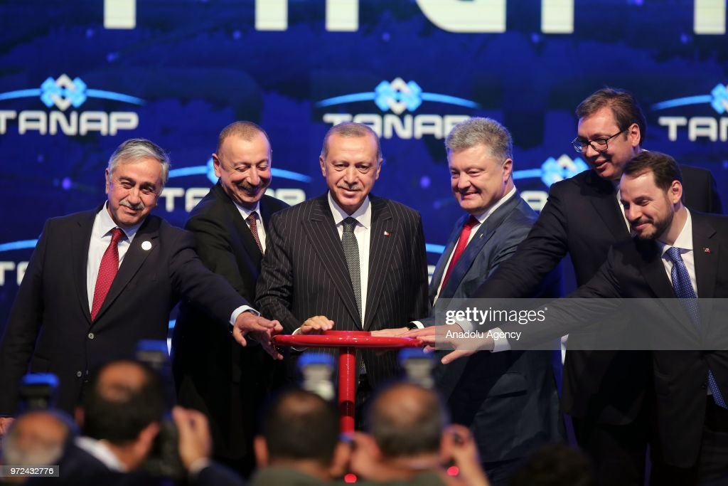 Opening ceremony of Trans-Anatolian Natural Gas Pipeline in Eskisehir : News Photo