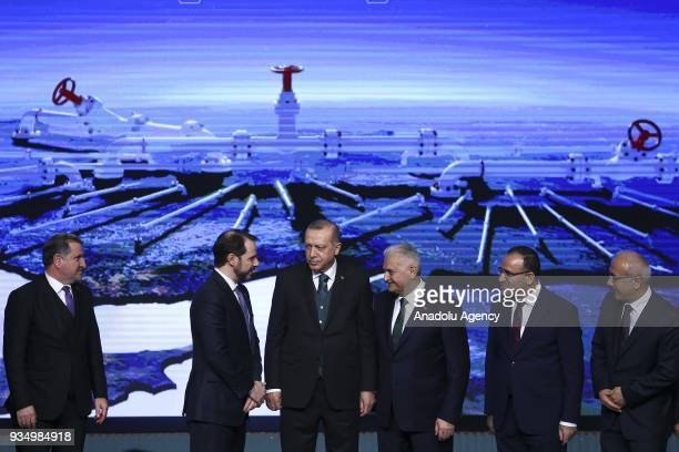 President of Turkey Recep Tayyip Erdogan Prime Minister of Turkey Binali Yildirim Turkish Energy and Natural Resources Minister Berat Albayrak...