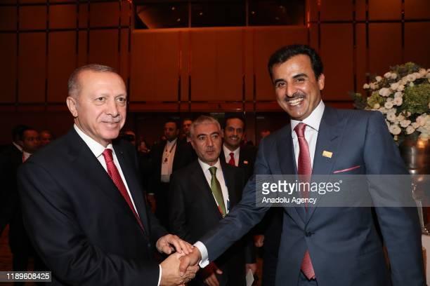 President of Turkey Recep Tayyip Erdogan , Qatar's Emir Sheikh Tamim bin Hamad al-Thani , Iranian President Hassan Rouhani and Prime Minister of...