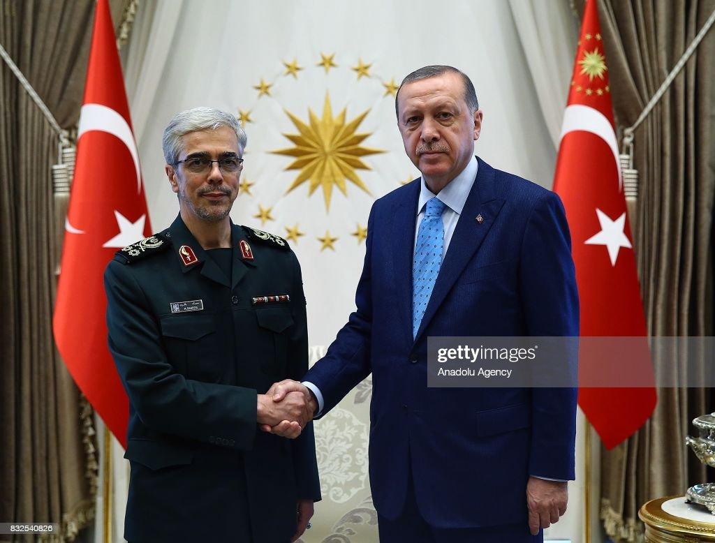 Recep Tayyip Erdogan - Mohammad Bagheri meeting in Ankara : News Photo