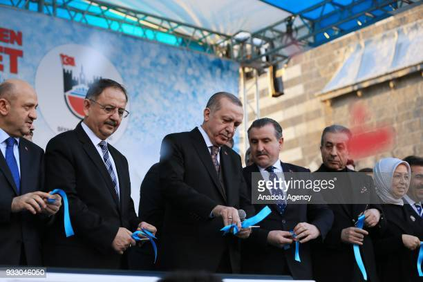 President of Turkey Recep Tayyip Erdogan Turkish Deputy Prime Minister Fikri Isik Turkish Minister of Environment and Urbanization Mehmet Ozhaseki...
