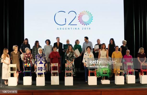 President of Turkey Recep Tayyip Erdogan's wife Emine Erdogan President Interamerican Development Bank Maria Gabriela Sigala Financial Stability...