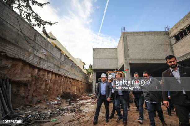 President of Turkish Red Crescent Kerem Kinik visits the ongoing constructions of Disaster and Logistic Center built by Turkish Red Crescent for...