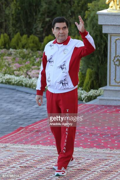 President of Turkmenistan Gurbanguly Berdimuhamedov attends the opening ceremony of AkhalTeke Horse Beauty Contest within annual Turkmen Racing Horse...