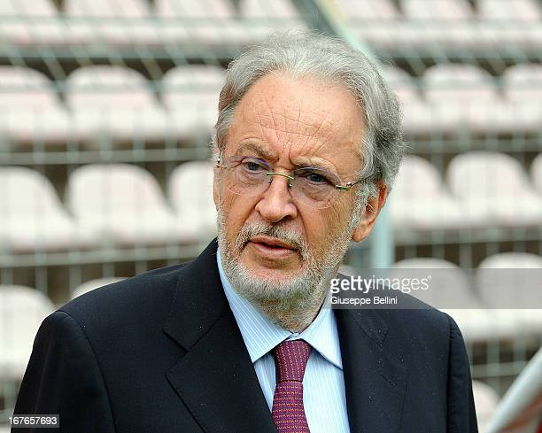 President of Udinese during the Serie A match between Cagliari Calcio and Udinese Calcio at Stadio Sant'Elia on April 27, 2013 in Cagliari, Italy.
