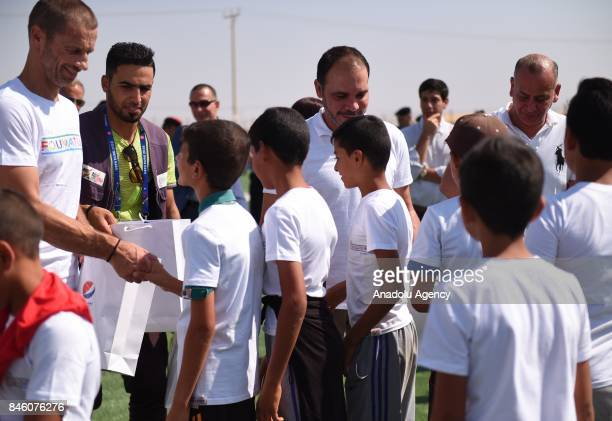 President of UEFA Aleksander Ceferin and West Asian Football Federation President and Jordan Football Federation President Prince Ali bin alHussein...