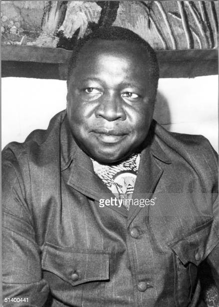 President of Uganda Idi Amin Dada smiles during an interview in August 1975 in Kampala His reign of terror lasted from 1971 when he seized power from...