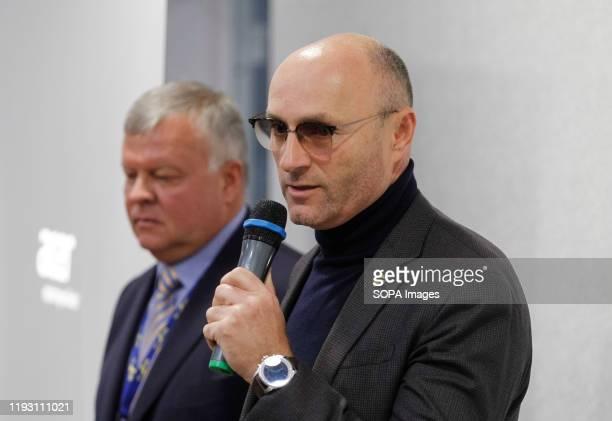 President of Ukraine International Airlines , Yevhenii Dykhne speaks during a news conference about the Ukrainian Boeing 737-800 plane crash in Iran...