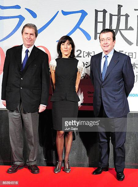 President of uniFrance Antoine de ClermontTonnerre dancer Actress Blanca Li and French Ambassador to Japan Philippe Faure attend the France Film...