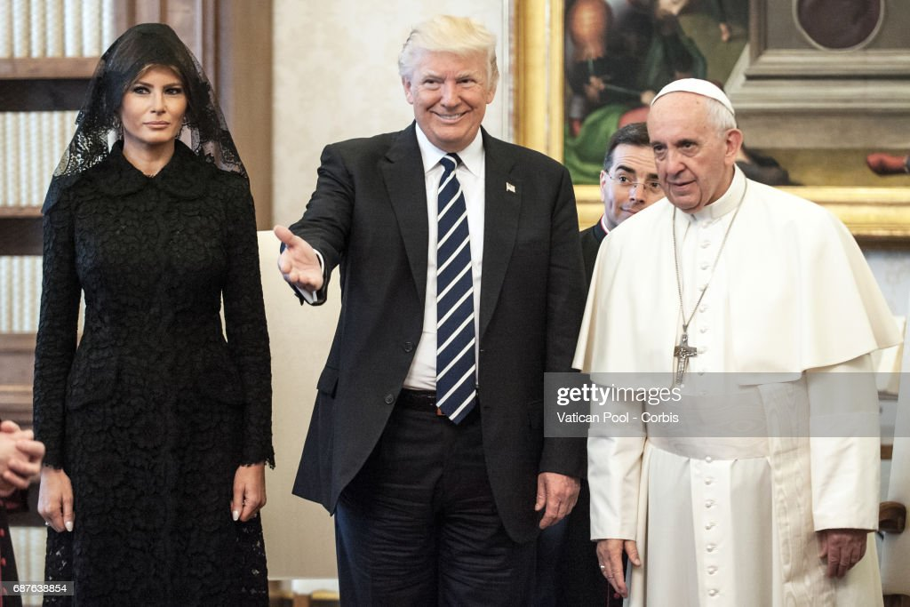 Pope Francis Meets USA President Donald Trump : News Photo