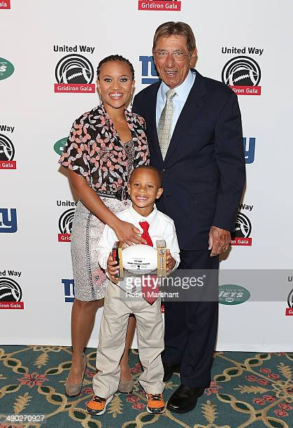 President of United Way Sheena Wright and Joe Namath attend the 21st Annual Gridiron gala at The Waldorf=Astoria on May 13 2014 in New York City