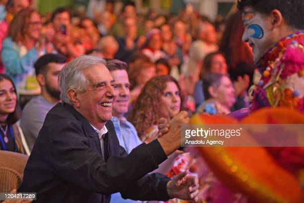 President of Uruguay Tabare Vazquez applauds in the celebration when leaving the presidency of Uruguay in his second time in Montevideo on February...