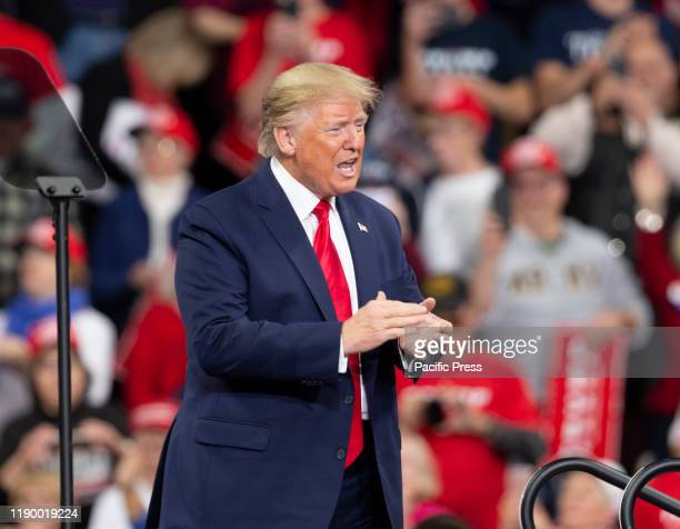 President of USA Donald Trump holds Keep America Great rally at Giant Center.