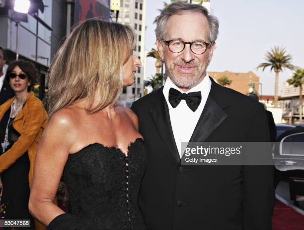 President of USA Network and SCIFI Channel Bonnie Hammer with director Steven Spielberg arrive at the 33rd AFI Life Achievement Award tribute to...
