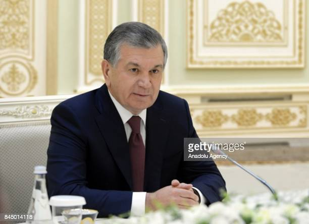 President of Uzbekistan Shavkat Mirziyoyev receives Chinese Central Commission on Political and Legal Affairs Secretary Meng Jianzh and the...