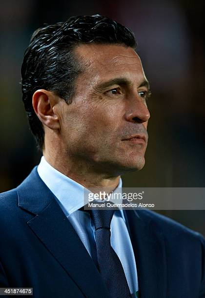 President of Valencia Amadeo Salvo looks on prior to the star the La Liga match between Elche FC and Valencia CF at Estadio Manuel Martinez Valero on...