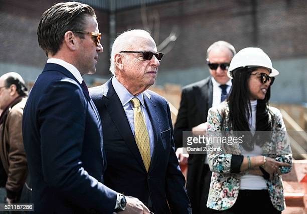 President of Vector Group Ltd Howard Lorber attends the groundbreaking ceremony of 160 Leroy Street on April 14 2016 in New York City